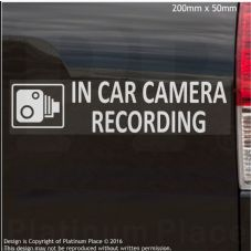 1 x EXTERNAL-In Car Camera Recording Stickers-CCTV Sign-Van,Lorry,Taxi,Minicab